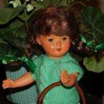 Очень красивая,целлулоидная,старинная,немецкая куколка Adolf Steiner, Coburg.