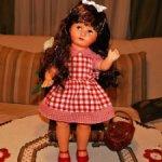 Большая,антикварная,немецкая кукла с флиртующими глазами Hans Volk.(HV)