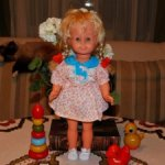 Замечательная кукла немецкой компании Spielzeug Rauenstein. 60-е годы. Состояние!