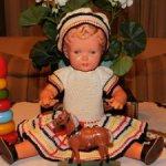 Антикварная,немецкая кукла Schildkröt-черепашка в Ромбе.