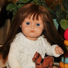 Реплика редкой антикв.английской куклы  «D.P.Co»-The Diamond Pottery Company из Хенли, Стаффордшир