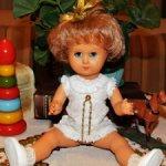 Редкая,антикварная куколка  50-х годов- ATHENA -Италия. (из Бакелита).