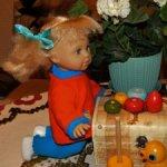 Немецкая куколка  Zapf- Маленькая,озорная девочка. Доставка.