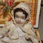 Антикварная,немецкая,карманная куколка -18 см. -очень трогательная .