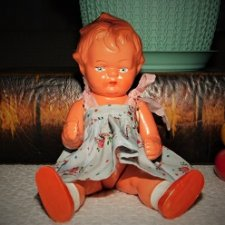 Редкая,антикварная,композитная куколка AH/G, (Arno Heise in Görzke) -Германия.Рельефочка.