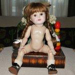 Реплика антикварной куклы от Wernicke ( Германия) 1983 год. Шарнирная!Маркирована. Доставка.
