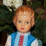Стройная и благородная,редкая,рельефная, антикварная куколка 50-е годы.В отличном состоянии.