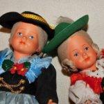 Красивые,антикварные,целлулоидные куклы немецкой компании AJ в новом состоянии.Цена за лот.