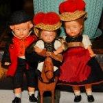 """Старинные ,немецкие куколки - """"Пластикбэби"""" и малипуська-Черепашка-колкий пластик. Цена за семью!"""