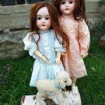 Две хорошенькие антикварные   куклы сестрички одного молда  Max Handwerck 283