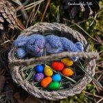 Пасхальный крольчонок валянием из шерсти и другие мои игрушки