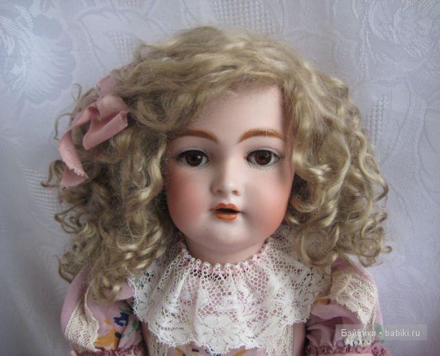 мохеровые парик для антикварной куклы, автор М.черябкина