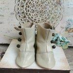 Cапожки кожаные для антикварной куклы или реплики с ногами 8 см