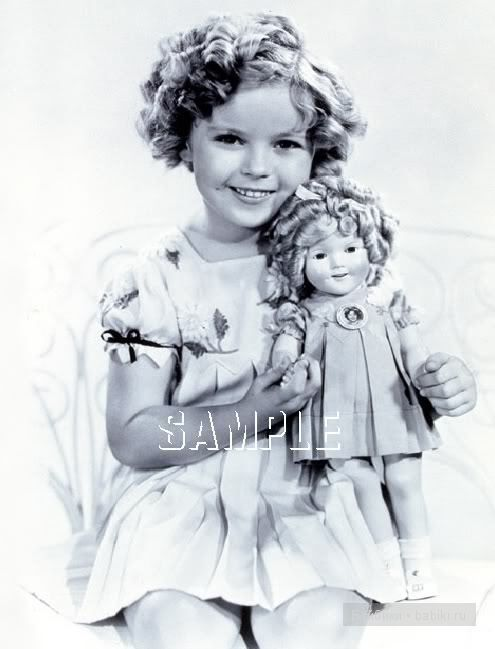 Ширли Темпл со своей куколкой, фото