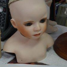 Мной созданная, первая кукла из фарфора по молду Дианны Эффнер