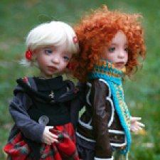 Осенняя прогулка шарнирных кукол Эми и Эми от F&B doll studio