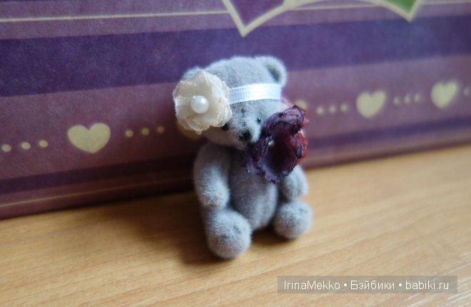 Авторская игрушка Ирины Мекко, мини-мишка