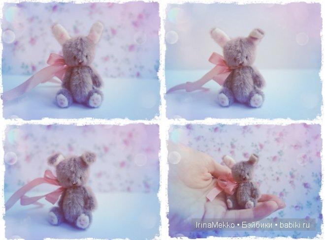 авторская игрушка Ирины Мекко, мини кролик, мини зайка