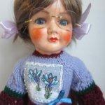 Платье зимнее для кукол до 50 см (Готц, ГДР,Gotz)