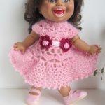 Розовые платья для кукол 35 см