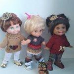 Туники, свитерочки для кукол до 35 см 9Фейсинки,Готц(литл)