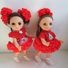 Платья для кукол 25 см ,Ася (Весна)