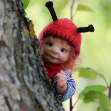 Букашка. Авторская кукла Виктории Балибок