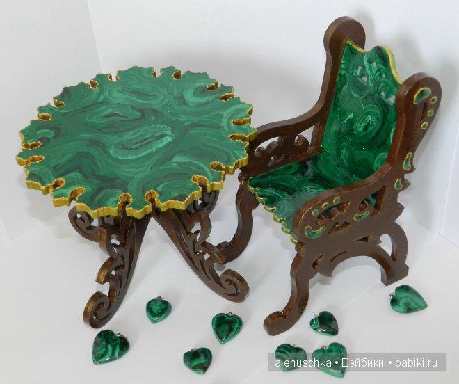 Мебель, навеянная сказами Бажова. Миниатюрная кукольная мебель