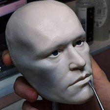 Авторская портретная голова на BJD тело. Молодой Майкл Рукер