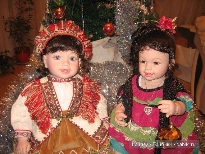 Майя из загадочной Македонии и Саванна из Испании - С Новым Годом!