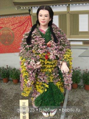 Куклы из хризантем в Японии. Кику-нингё (kiku-ningyo)
