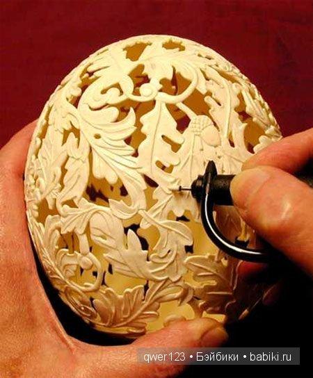 Резьба на яичной скорлупе от Гэри ЛеМастера (Gary LeMaster)