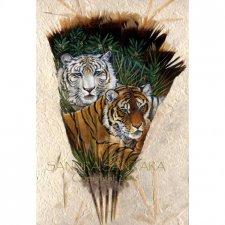 Удивительная роспись на перьях от Sandra San Tara (США)