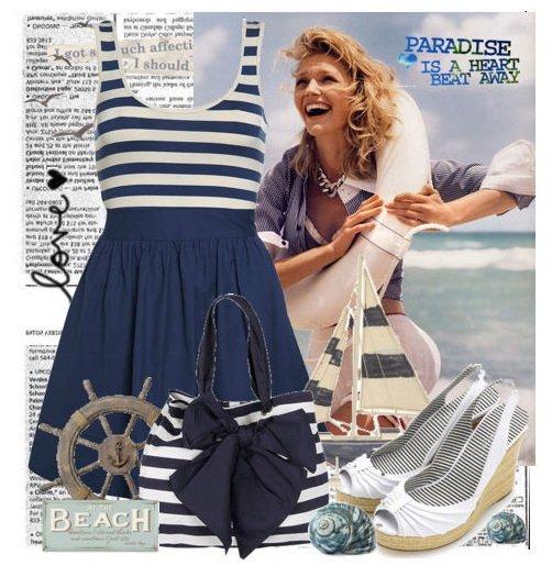 Море, море... или морской стиль всегда в моде! Одежда для кукол