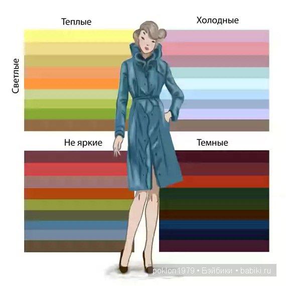 теплый и холодный цвет в одежде