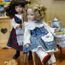 Карманное счастье, фарфоровая куколка