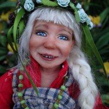 Через ручей. Авторская кукла