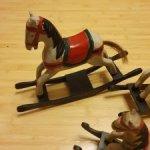 Деревянные винтажные лошадки. Испания.