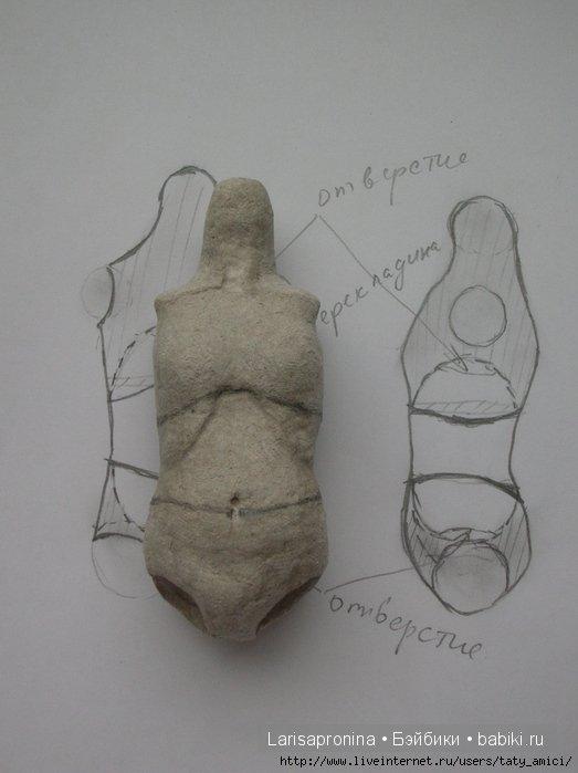 Мастер-класс. Создание шарнирной куклы своими руками из папье маше и самоотвердевающей глины