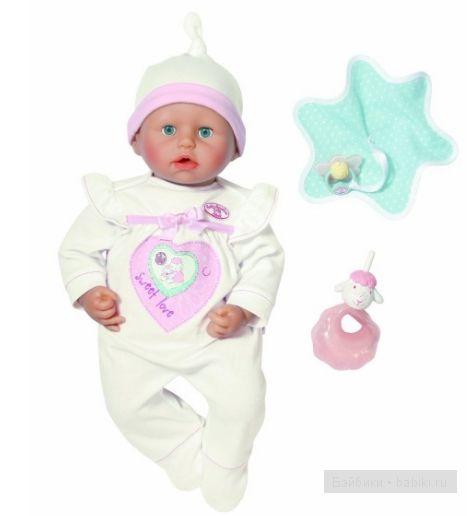 ZAPF Creation Baby Annabell Кукла с мимикой, 46 см