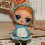 "Костюм ""Алиса в Стране Чудес"" для куколок L.O.L. Surprise Doll (8-9см)"