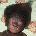 Милая спящая горилла