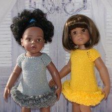 Платья с блеском для кукол Готц и им подобных.