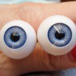 Глазки 16, 18 и 20 мм для кукол Готц (Gotz) и БЖД. Обновление 17.11.2020