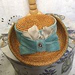 Шляпка с загнутыми полями для реплики, антикварной или винтажной куклы
