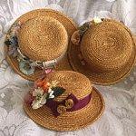 """Три шляпки-""""полянки"""" из натуральной соломки для романтических барышень"""
