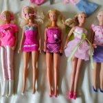 5 кукол BARBIE в одежде с обувью и дополнительными предметами Барби