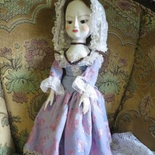 Queen Anne Style Doll - мой  образ деревянных кукол 16-18 века