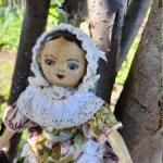 !Деревянная куколка, реплика кукол 17 века в стиле Изанны Уолкер
