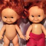 Раритет. Виниловые куколки от Goebel/ 1966 год. Продажа в паре.